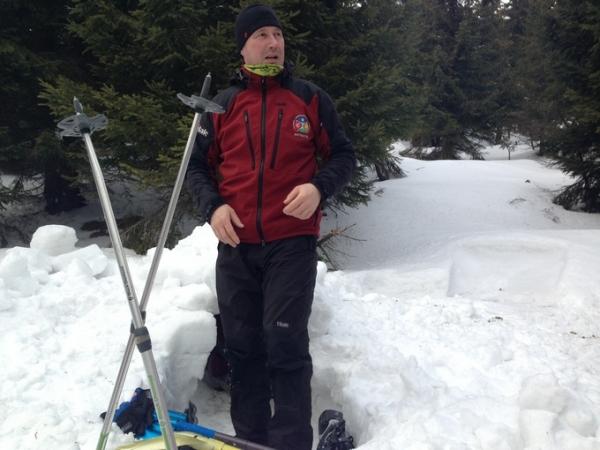 Petr Hrdlička na zimním bloku