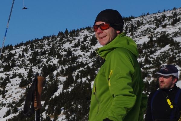 Martin Zavřel na zimním lavinovém kurzu