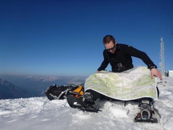 Roman Smolný při vzdělání horského průvodce