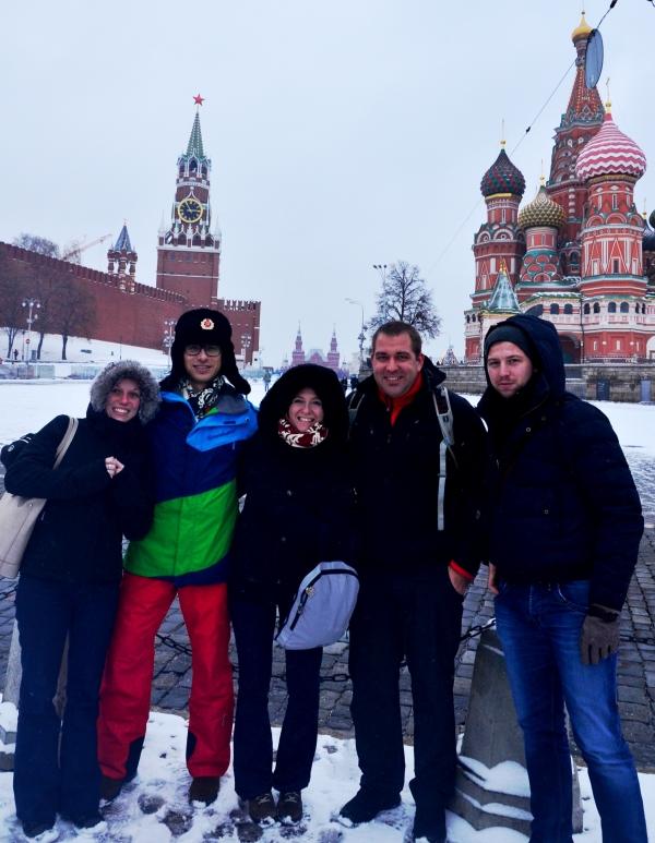 Část naší skupiny na Rudém náměstí