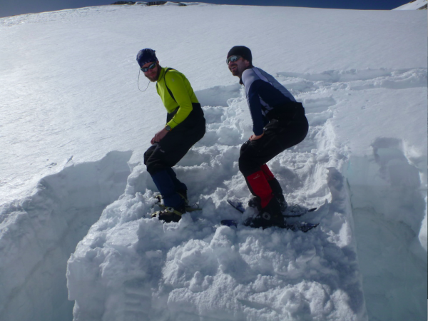 Roman při testu stability sněhového profilu– Zimní hodnoceníUIMLA